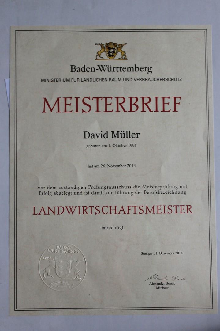 Biohof-Müller - Zertifikate